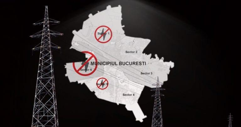 """Un """"accident"""" a lăsat vestul Bucureștiului fără curent electric"""