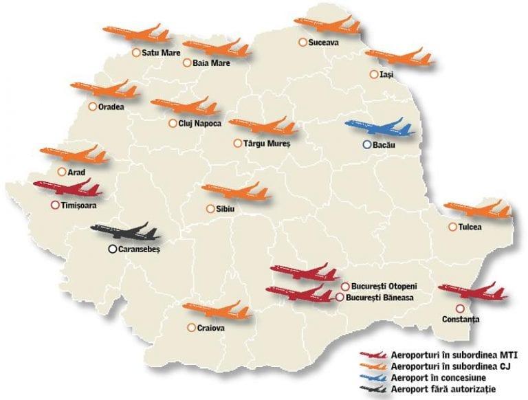 Fonduri pentru aeroporturile regionale din Sibiu, Cluj, Iași, Craiova și Bacău