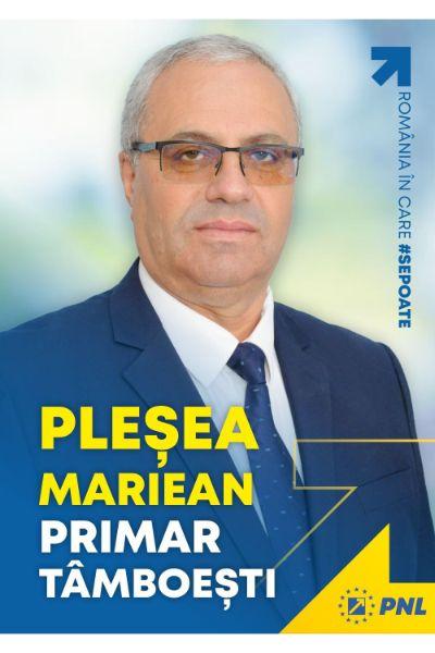 Activitatea primarului comunei Tâmboești, Mariean PLEȘEA