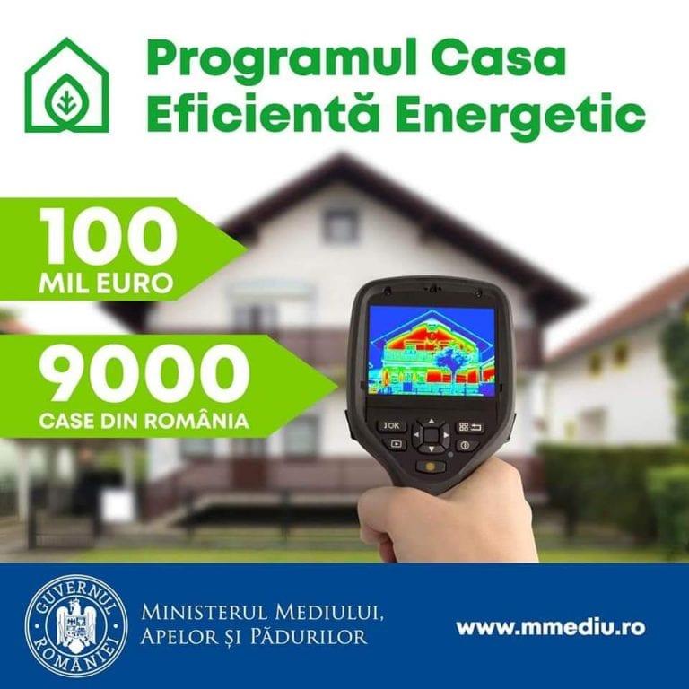 """Programul """"Casa Eficientă Energetic"""" începe pe 15 septembrie 2020"""