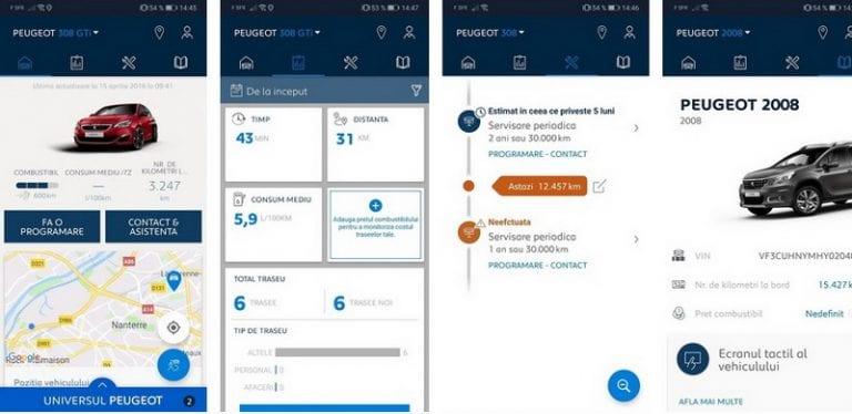 Aplicația pentru mobil MyPeugeot sau cum să știi totul despre mașina ta