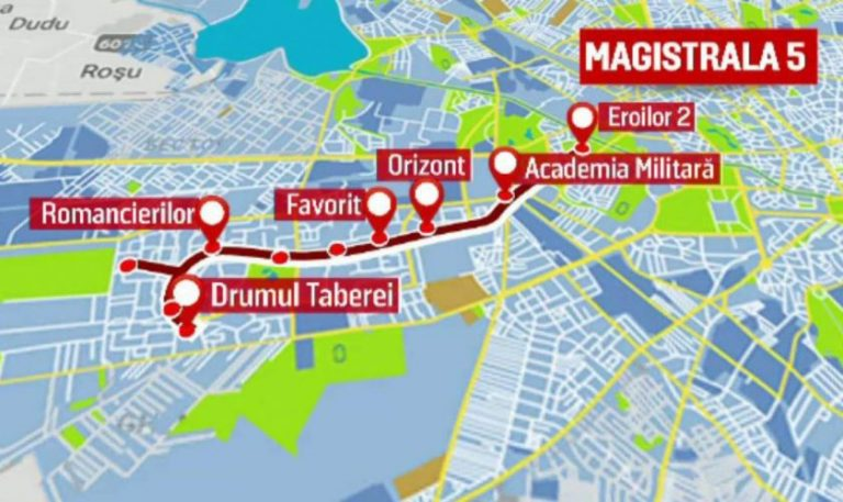 Se deschide magistrala de metrou M5 Drumul Taberei