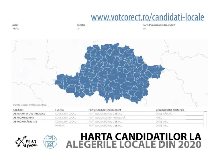 Informații despre candidații la alegerile locale