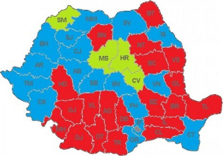 Câștigătorii primăriilor din marile orașe și harta consiliilor județene