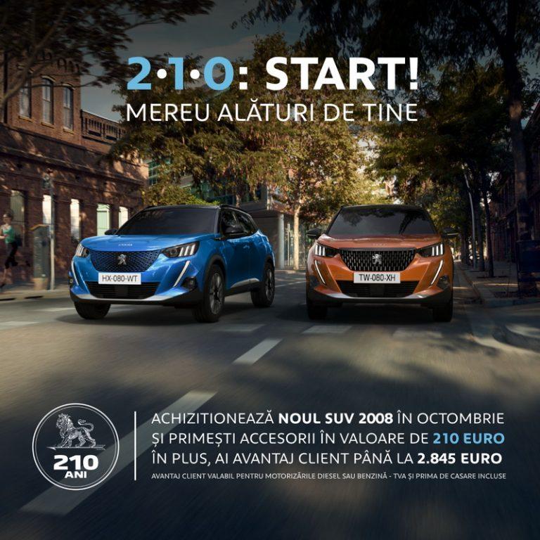 Achiziționează Noul SUV 2008 în octombrie și primești accesorii în valoare de 210 Euro