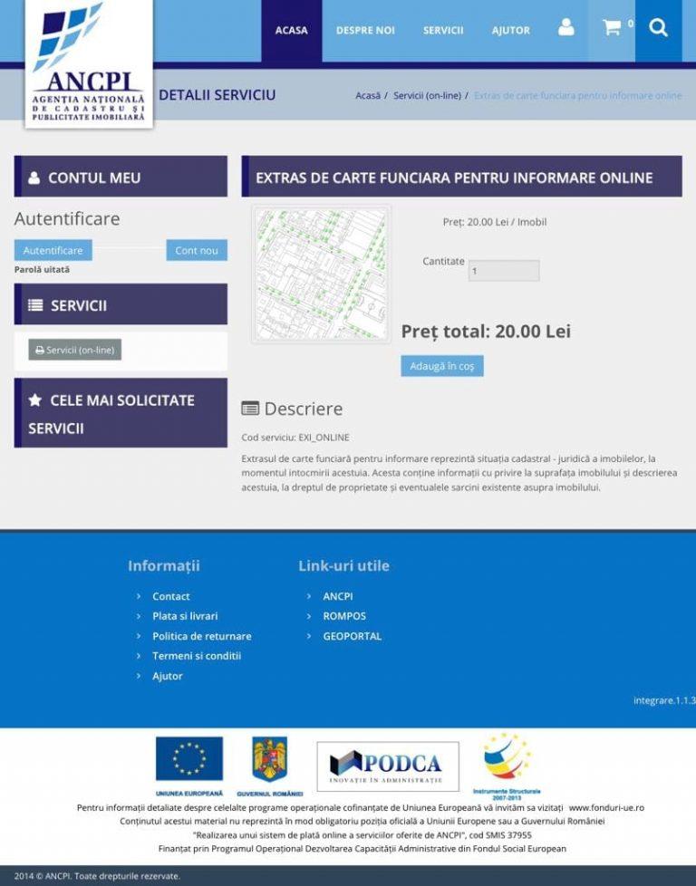 ANCPI emite documente online