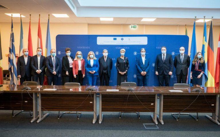 Vicepremierul Raluca Turcan și ministrul Marcel Boloș s-au întâlnit cu comisarul Johannes Hahn