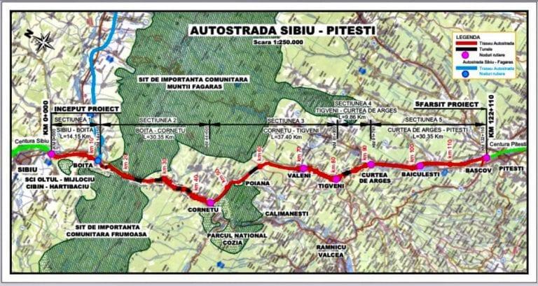 Proiectare și execuție Autostrada Sibiu – Pitești, Secțiunea 2: Boița – Cornetu