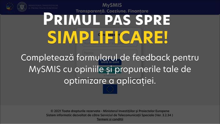 Îmbunătățirea aplicației informatice MySMIS de către MIPE