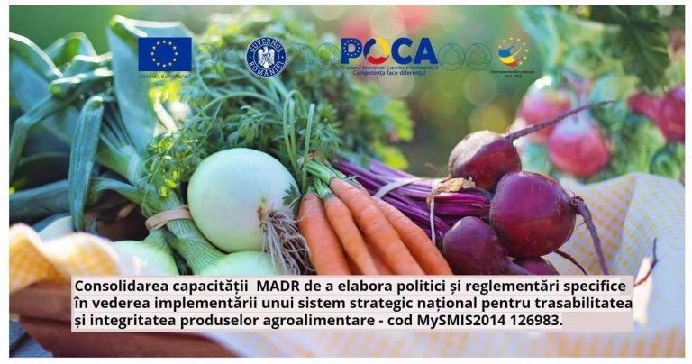 Ministerul Agriculturii și Dezvoltării Rurale derulează un nou proiect în cadrul POCA