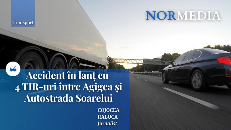 Accident în lanț cu 4 TIR-uri între Agigea și Autostrada Soarelui