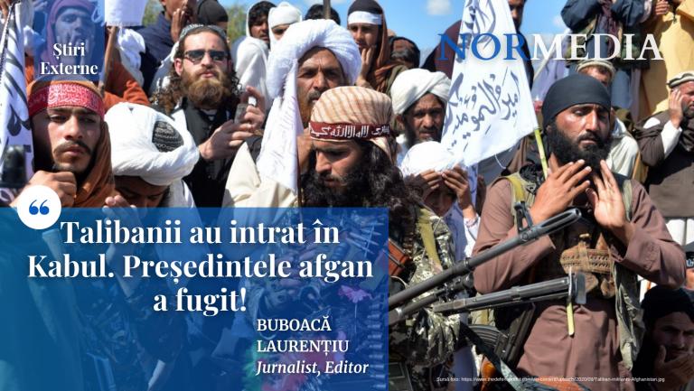 Talibanii au intrat în Kabul. Președintele afgan a fugit!