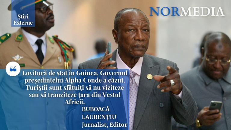 RAPORT: Lovitură de stat în Guinea. Guvernul președintelui Alpha Conde a căzut