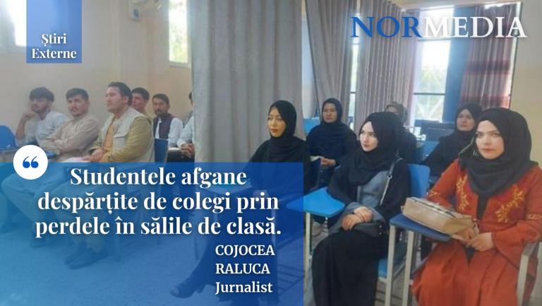 Studentele afgane despărțite de colegi prin perdele în sălile de clasă