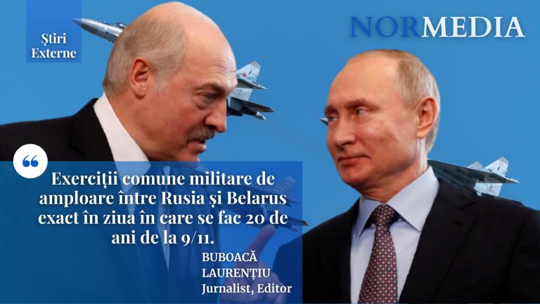 Exerciții comune militare de amploare între Rusia și Belarus exact în ziua în care se fac 20 de ani de la 9/11