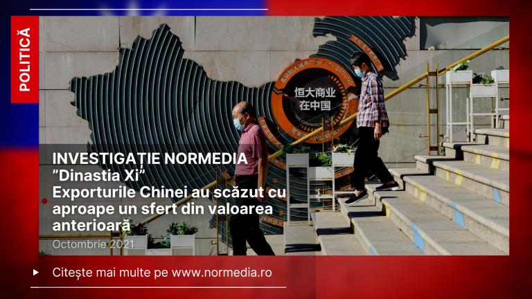 """INVESTIGAȚIE """"Dinastia Xi"""": Exporturile Chinei au scăzut cu aproape un sfert din valoarea anterioară"""